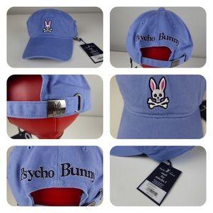Psycho Bunny Cotton Twill 6 Panel Hat Cap NWT 🐰